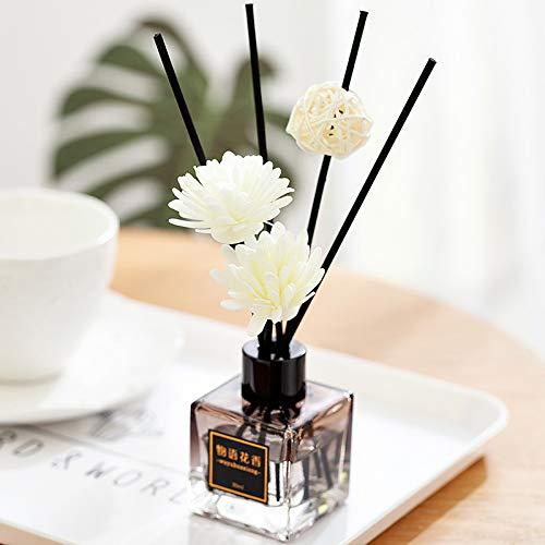 Wegji Gray Square Bottle Dry Flower Deodorant Home Indoor Perfume Cube Sleep Fire Fragrance