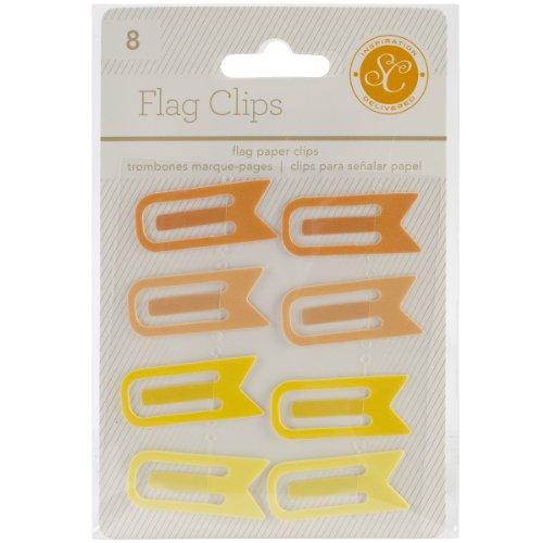 Studio Calico-Essentials Flagge Clips, 0,5von 1,25, gelb und orange, 8er Pack