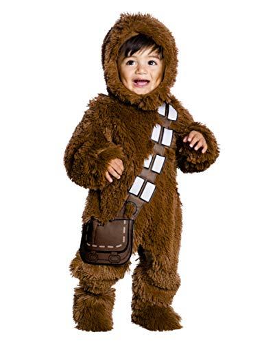 Horror-Shop Star Wars - Deluxe Plüsch Chewbacca Kinder Kostüm als Verkleidung für kleine Wookiees Baby (1-2 Jahre)