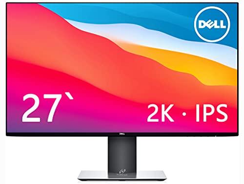 Dell 27インチ·2K解像度·IPS非光沢 U2719D(広視野角/フレームレス/WQHD/ブルーライト軽減/フリッカーフリー/Type-c対応/USBハブ/DP,HDMI/高さ調整/回転) (整備済み品)