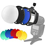 Camera Flash Diffuser with Color Filter Honeycomb Grid for Speedlight