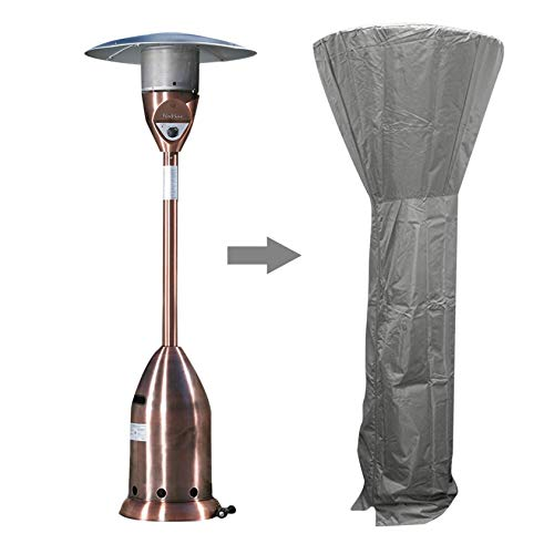 FANBDWM Patio Heater Cover, 210D Waterproof Oxford with Zipper, Standup Outdoor Round Heater Covers 24 Months of Use (L:106228cm, Gray)