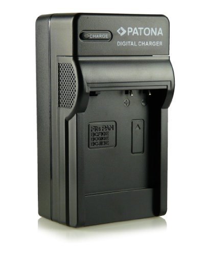 PATONA 3in1 Ladegerät für DMW-BCJ13, BP-DC10E Akkus kompatibel mit Panasonic Lumix DMC-LX5 DMC-LX7 Leica D-LUX 5 D-LUX 6