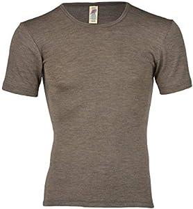 Engel Axil - Camiseta interior de manga corta lana y seda ángel natural talla: 46-55 nuez 50