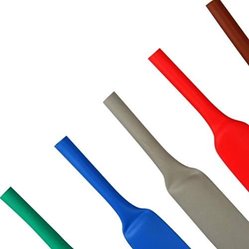 1 Meter Schrumpfschlauch 2:1 rot, blau, gelb, grün/gelb grau, transparent, braun usw. verschiedene Farben Ø 1,2 bis 25,4 mm mm (Ø 25,4 mm, grau)