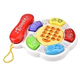 Educational Toy, Electronic Telephone Toy, Music Telephone Toy, Round for Kids Ba