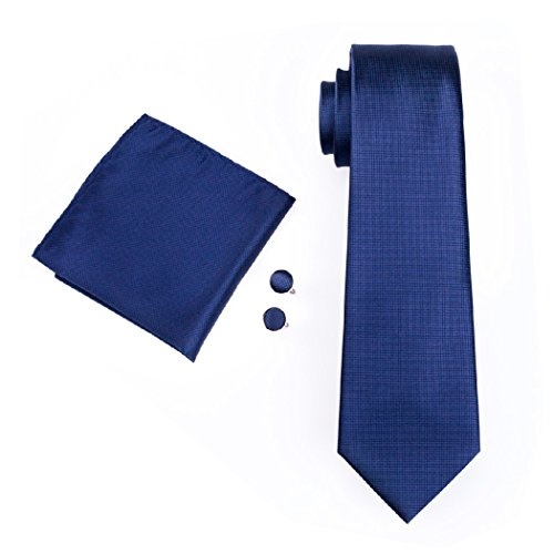 Set Para hombre, formal, de corbata, pañuelo cuadrado y Gemelos, de cachemira, a Rayas, Floral, 100% Seda, Tejido
