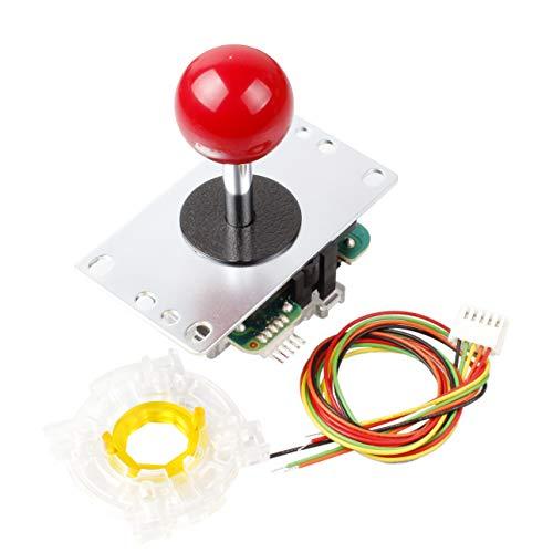 Sanwa JLF-TP-8YT OEM Rote Kugel Top Griff Arcade Joystick + Sanwa GT-Y Achteckige Tor Für Arcade Joystick Spiele Mame Jamma