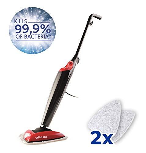 Vileda Steam Mop (UK Version), Kills 99.9% of Bacteria Without...