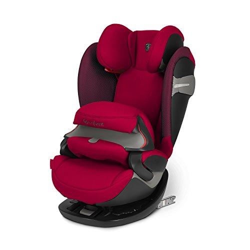CYBEX Gold Silla de coche 2 en 1 para niños Pallas S-Fix Scuderia Ferrari, Para coches con y sin Isofix, Grupo 1/2/3 (9-36 kg), Desde los 9 meses hasta los 12 años aproximativamente, Racing Red