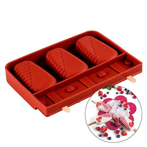 HDYZ zomer ijsvormen silicone popsicle gereedschap herbruikbare huishoudhulp kind keuken gadgets dining accessoires levert 3 holle ruimte