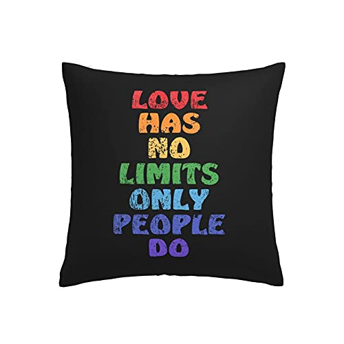 Funda de almohada decorativa Love Has No Limits Only People Do 45 x 45 cm