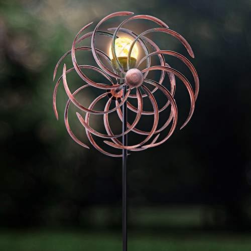 GloBrite Wind Spinner Crackle Ball Globe Light - Colour Changing (Solar Powered)