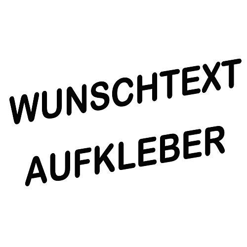 topdesignshop Wunschaufkleber mit Vorschau gestalten - Autoaufkleber nach Wunsch - Buchstaben Text Sticker fürs Auto einzeilig