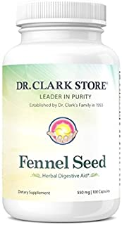 Fennel Seed, 550 MG, 100 Capsules
