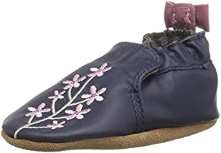 Robeez Girls' Bluebell Crib Shoe Bluebell Navy 3-4 Years M US Infant [並行輸入品]