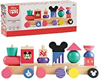 Disney Wooden Toys Mickey Mouse Stacking Train Set, 18-Pieces,  Exclusive, by Just Play