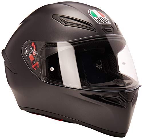 AGV AGV-0281O4I0-003-XL Unisex-Adult Full Face K-1 Motorcycle Helmet (Matte Black, X-Large)