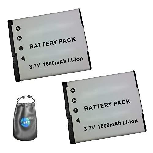 amsahr - Batería de Repuesto para cámara Digital y videocámara Casio NP-130, Exilim EX-H30 Pack-2 (Incluye Funda para Objetivo)