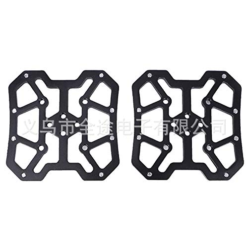 SSSabsir Pair of Aluminum Alloy MTB Mountain Bike Bicycle Pedal Platform Adapters for SPD for KEO Bicycle Parts Lightweight