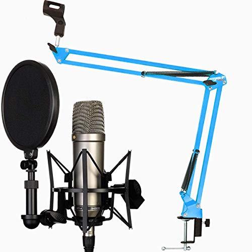 Rode NT1-A Set Kondensator Mikrofon + keepdrum NB35 Blau Gelenkarm Stativ Blue