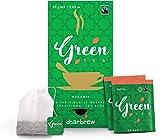 Té Verde Orgánico de Charbrew Bolsitas de Té En Envoltorio con Cordel y Etiqueta