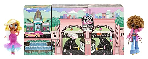 LOL Surprise OMG Movie Magic Studios with 70+ Surprises, 12 Dolls Including 2 Fashion Dolls, 4 Movie Studio Stages, Green Screen, Phone Tripod, Movie Theater/Set Packaging, and Movie Accessories
