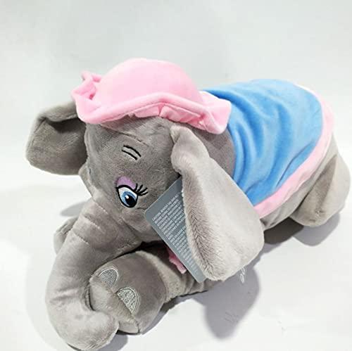 WPQL Juguetes de Peluche de Elefante Madre Dumbo, muñecos de Peluche de Animales de Dibujos Animados, decoración de cojín de Almohada Suave, para niños, Regalos de cumpleaños para niños, 25 cm