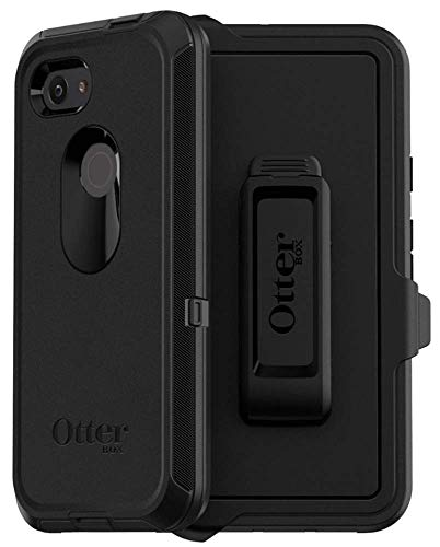 OtterBox Defender Series Case & Holster for Google Pixel 3A XL (NOT 3A) Non-Retail Packaging - Black
