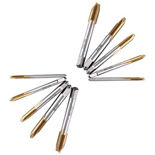 Juego de grifos métricos de flauta espiral, 5 piezas de bro