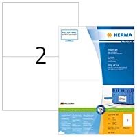 HERMA SuperPrintラベル1枚あたり多目的2個210x148mmホワイト - Ref 4628(400ラベル