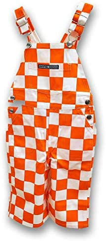 Game Bibs Youth Checkered Orange White Overalls product image