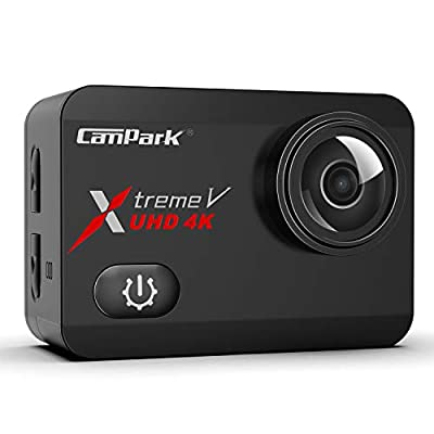 Campark X30 Native 4K 60fps Action Camera 20MP with EIS Anti Shake Touch Screen WiFi Waterproof Camera 40m with 2 1350mAh Batteries, 1 Charger and Mounting Accessories from Campark
