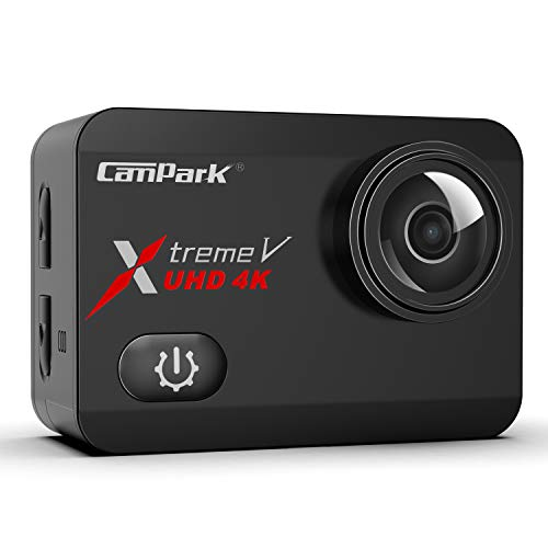 Campark X30 Action Cam 4K/60fps 20MP Ultra HD WiFi 2'' IPS Touch Screen EIS 40M Impermeabile Fotocamera Subacquea con 2×1350mAh Batterie, 1 Caricabatterie e Kit di Accessori Compatibile con Gopro