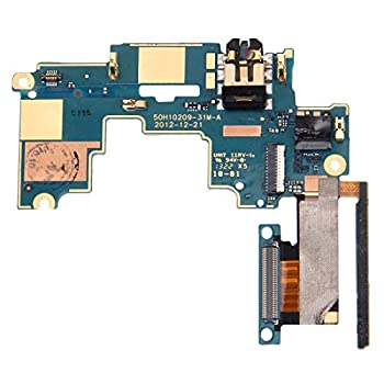 HEGUANGWEI Mainboard & Volume Control Button/Earphone Jack Flex Cable for HTC One M7 / 801e / 801n Phone Flexible Cable Replacement Parts