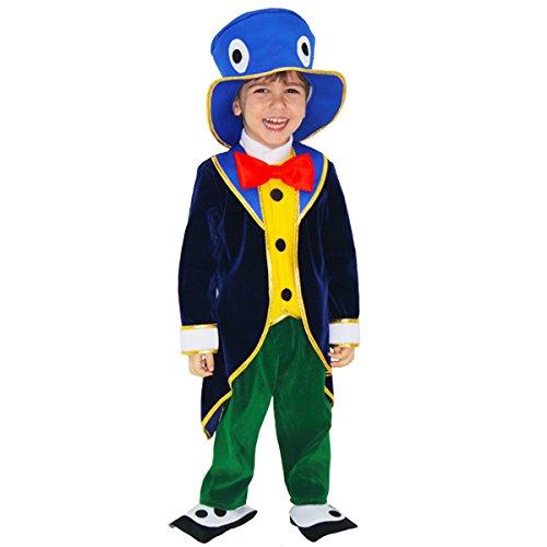 Disfraz de carnaval del grillo de Pinocho 2 - 3 anni