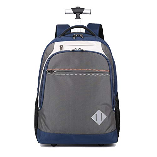 HHYR Business Travel Trolley Backpack, Hand Luggage in Passenger Cabin Computer Trolley Backpack with Large Capacity, Lightweight Backpack with Two Large Wheels, 34 x 20 x 50 cm Size: One Size