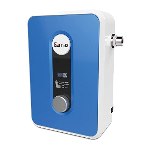 Eemax eem24013 electric tankless water heater, blue 2 tank less water heaters provide a continuous supply of hot water and only heats the water you need, when you need it instant, consistent and endless hot water the most advanced, self-modulating technology available, meaning the unit will adjust how much energy needs to be input based on how much hot water is needed