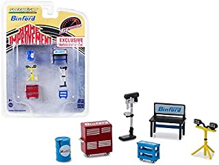 StarSun Depot New Binford Tools 6 Piece Shop Tools Set Home Improvement (1991-1999) TV Series Hobby Exclusive 1/64 by Greenlight