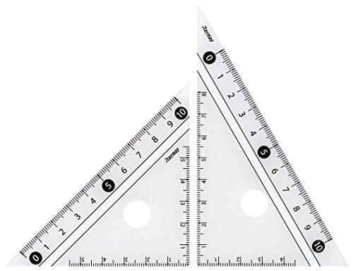 レイメイ藤井 定規 見やすい白黒 三角定規 白 10cm APJ251W
