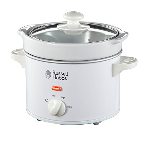 Russell Hobbs 22730 Compact Slow Cooker, 2 L - White by