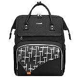 LOVEVOOK Laptop Rucksack 15,6 Zoll Rucksack Damen wasserdichte Schulrucksack mit Laptopfach für Reisen Arbeit, Schwarz