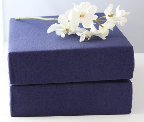 Luxe waterbedden hoeslaken kleur: donkerblauw 180x200cm tot 200x220cm, 97% katoen 3% elastaan