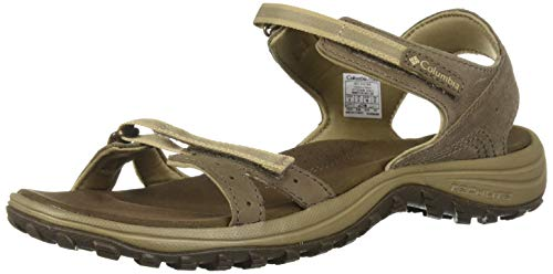 Columbia Femme Sandales, SANTIAM, Taille 36, Brun (Mud, Sandy Tan)