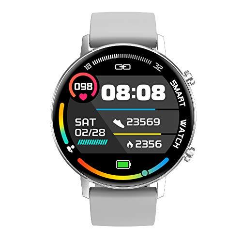 GBYN Pulsera Deportiva Inteligente, Unisex, recordatorio de Mensaje de Llamada de detección de Salud, Reloj Deportivo con música Bluetooth, Adecuado para el Sistema Android iOS-Grey