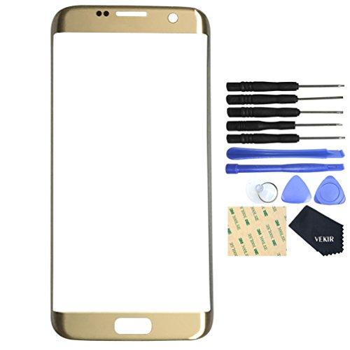 VEKIR Glas Reparatur Bildschirm für Samsung Galaxy S7 Edge (Gold)