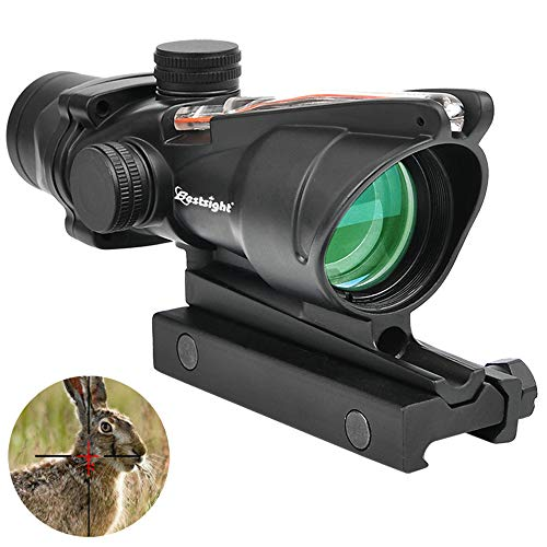 Bestsight ACOG Style 4x32 Riflescopes True Fiber Red Illuminated Crosshair Airsoft Scope (Red Fiber)…