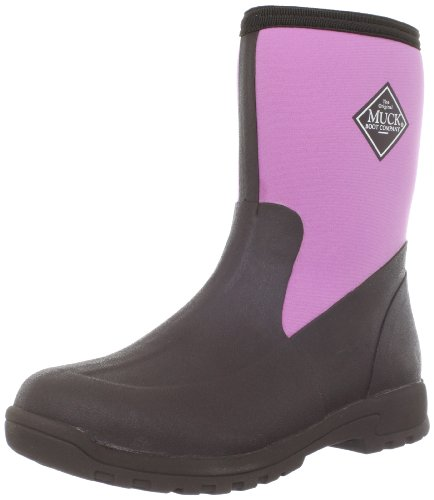 Hot Sale MuckBoots Women's Breezy Mid Boot,Chocolate/Dusty Pink,11 M US Womens