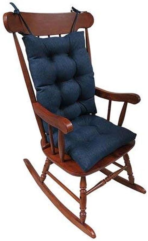 Klear Vu Rocking Chair Non Slip Cushions Omega Gripper Jumbo In Indigo Blue