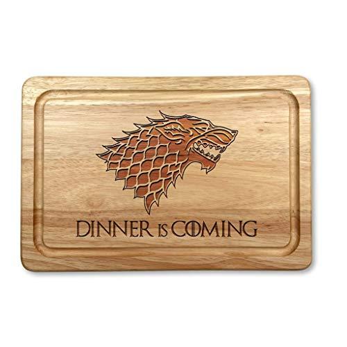 Dinner is Coming - Tabla de cortar (madera, 30 x 20 cm)